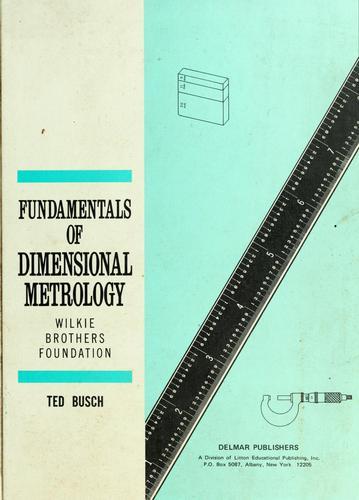 Fundamentals of dimensional metrology.
