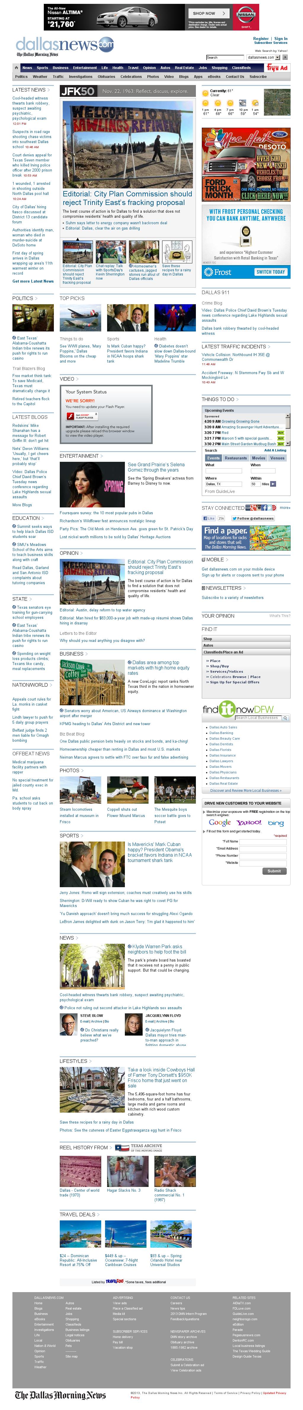 dallasnews.com at Wednesday March 20, 2013, 5:06 p.m. UTC