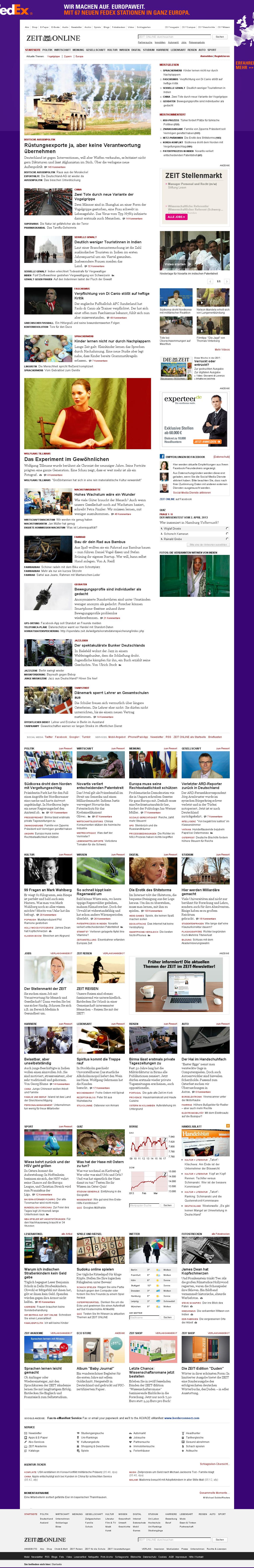 Zeit Online at Tuesday April 2, 2013, 4:28 a.m. UTC