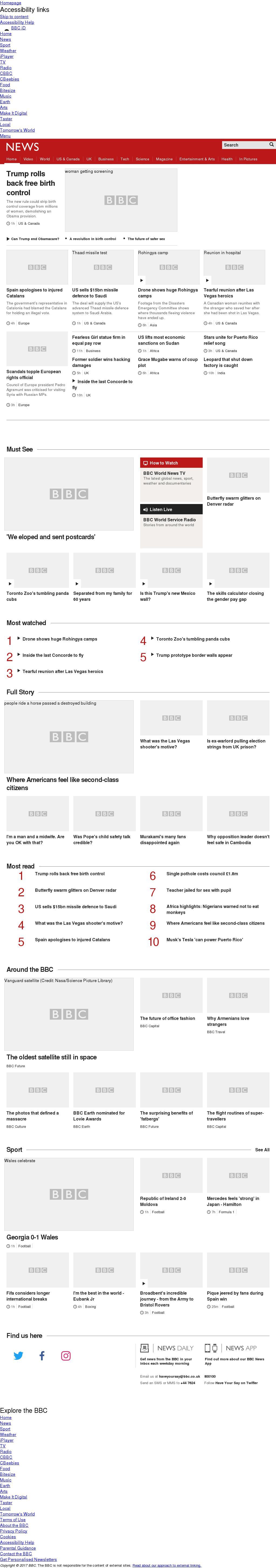 BBC at Friday Oct. 6, 2017, 10 p.m. UTC