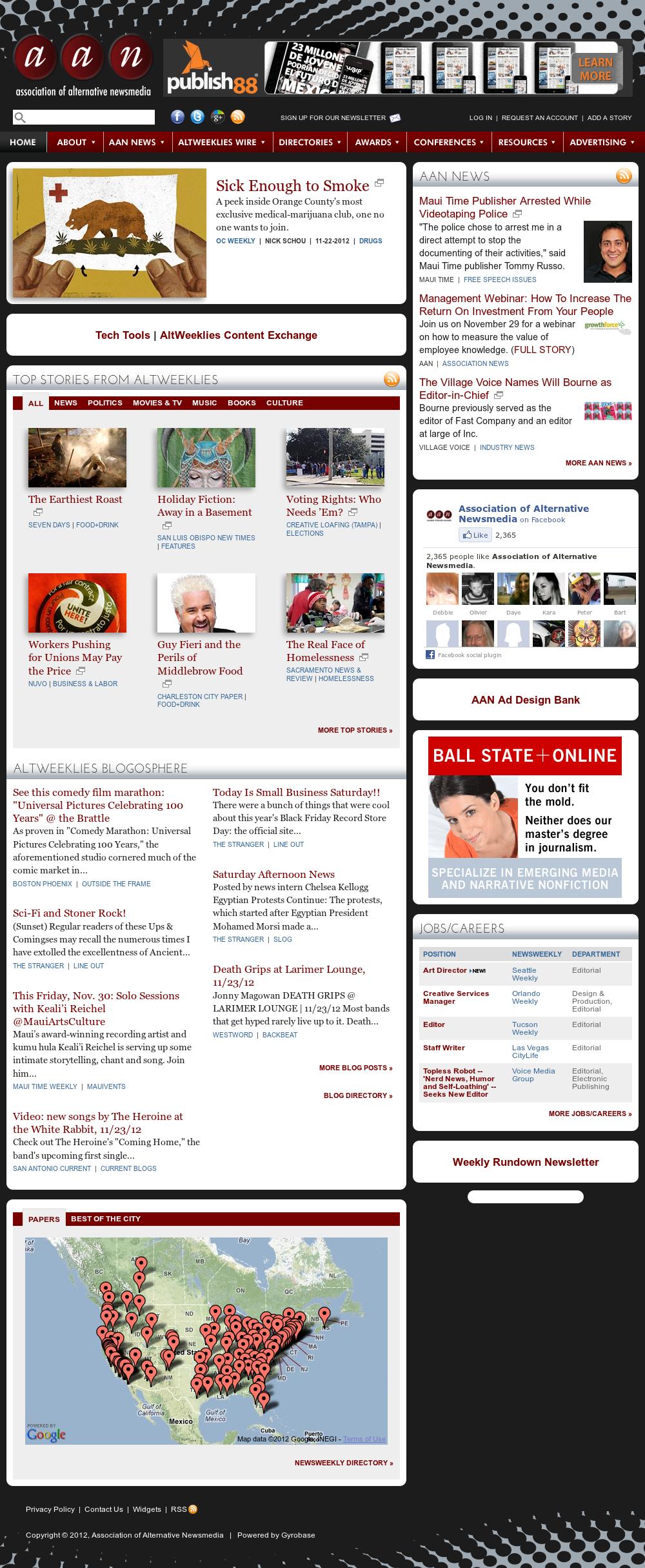 Association of Alternative Newsmedia at Sunday Nov. 25, 2012, 2:01 a.m. UTC