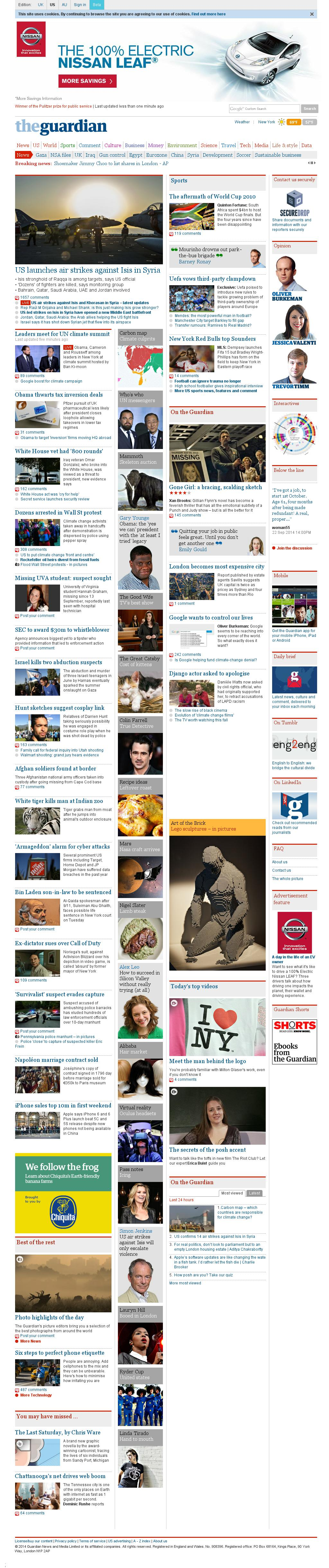 The Guardian at Tuesday Sept. 23, 2014, 1:07 p.m. UTC