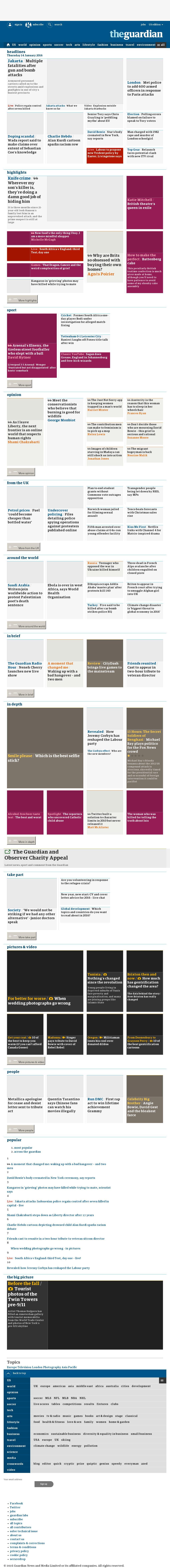 The Guardian at Thursday Jan. 14, 2016, 11:10 a.m. UTC
