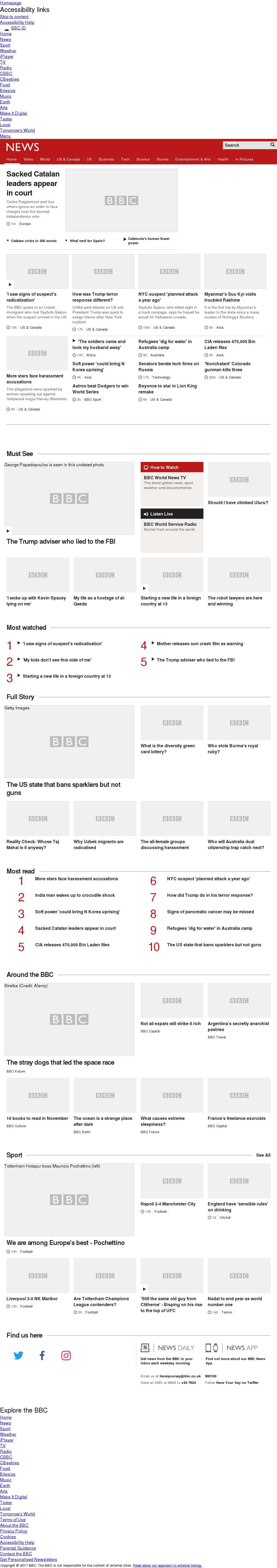 BBC at Thursday Nov. 2, 2017, 10 a.m. UTC