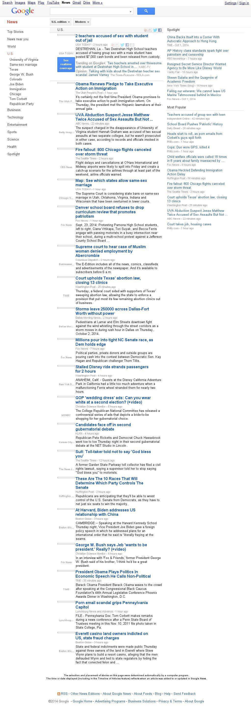 Google News: U.S. at Friday Oct. 3, 2014, 8:05 a.m. UTC