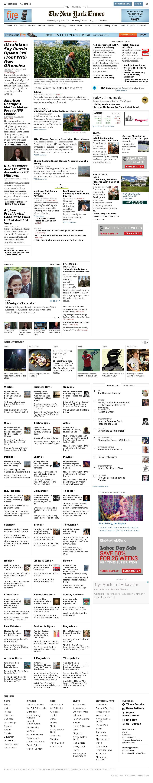 The New York Times at Wednesday Aug. 27, 2014, 5:11 p.m. UTC