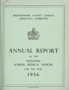 Cover of: [Report 1956] by Herefordshire (England). County Council
