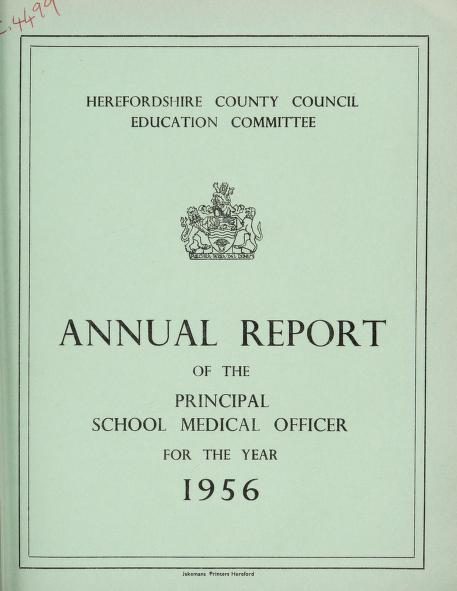 [Report 1956] by Herefordshire (England). County Council