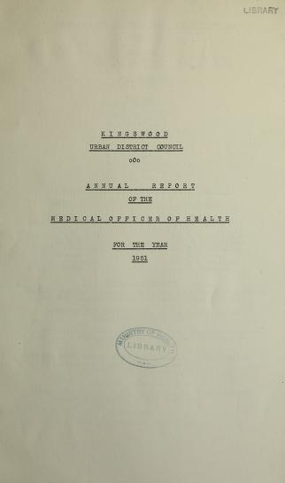 [Report 1951] by Kingswood (South Gloucestershire, England). Urban District Council