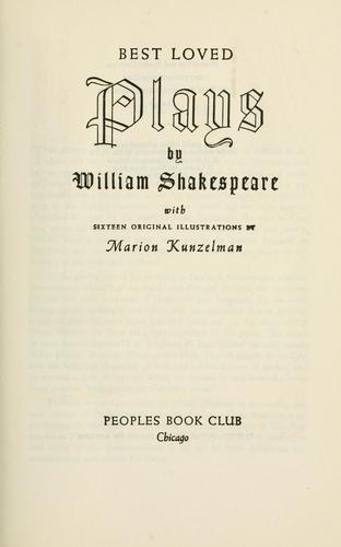 Best loved plays of William Shakespeare by William Shakespeare